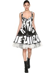Jeremy Scott Printed Leather Dress Black