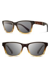 Shwood Men's 'Canby' 54Mm Acetate And Wood Sunglasses Sweet Tea Elm Burl Dark Grey Sweet Tea Elm Burl Dark Grey