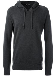 Dolce And Gabbana Knitted Hoodie Grey