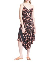 Plenty By Tracy Reese Floral Scarf Slip Dress Orange Multi