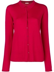 Apuntob Fitted Cardigan Pink And Purple