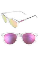 Smith Women's Questa 49Mm Mirrored Lens Sunglasses Crystal Pink Crystal Pink