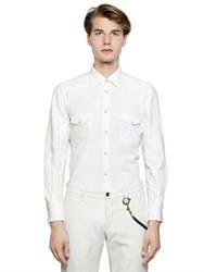 Lardini Cotton Poplin Western Shirt