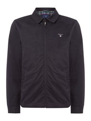 Gant Men's Zip Through Windcheater Cotton Coat Navy