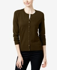Charter Club Long Sleeve Cardigan Only At Macy's Rich Truffle