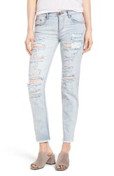 One Teaspoon Women's Awesome Baggies Ripped Crop Jeans Hamptons
