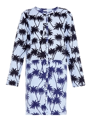 Tomas Maier Palm Print Cotton Shirtdress