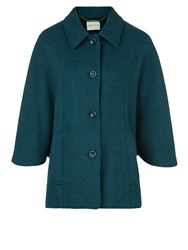 Eastex Dark Teal Check Cape Green