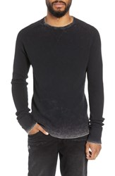Hudson Jeans Slim Fit Long Sleeve Thermal Mineral Black