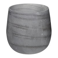Amara Tornadic Glass Votive Gray