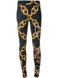 Philipp Plein Chain Print Leggings Black