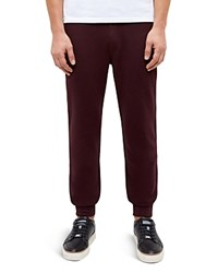 Ted Baker Jersey Cuff Jogger Sweatpants Dark Red