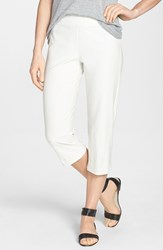 Eileen Fisher Women's Slim Capri Pants White
