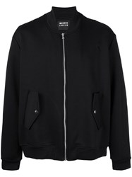 Markus Lupfer Embroidered Bomber Jacket Black