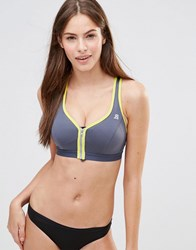 Shock Absorber Limited Edition Zipped Gym Bra Grey