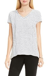 Vince Camuto Women's Two By Nautical Stripe V Neck Top