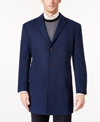 Ryan Seacrest Distinction Men's Royal Blue Overcoat Only At Macy's