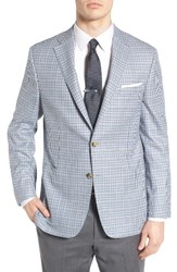 Hickey Freeman Men's Classic Fit Check Wool Sport Coat