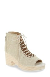 Kelsi Dagger Women's Brooklyn Main Platform Bootie Sea Salt Suede