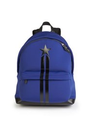 Givenchy Neoprene And Leather Star Backpack Blue