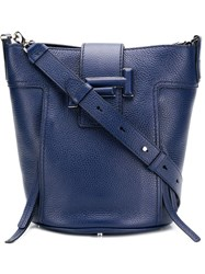 Tod's Double T Tote Blue