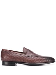 Kiton Classic Slip On Loafers Brown