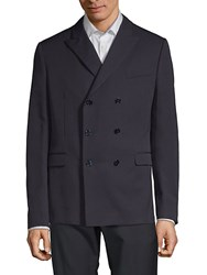 Valentino Double Breasted Wool Sportcoat Navy