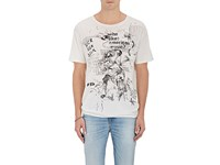 R 13 R13 Men's Doodle Boy Cotton Cashmere T Shirt White