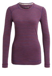 Smartwool Long Sleeved Top Mountain Purple Heather Moab Rust Heather