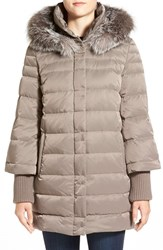 Women's Elie Tahari 'Silvana' Genuine Fox Fur Trim Down Parka