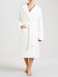 John Lewis Hooded Fleece Robe Ivory