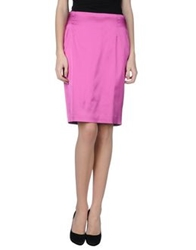 Angelo Marani Knee Length Skirts Purple