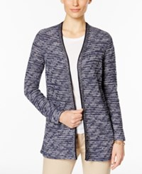 Charter Club Marled Cardigan Only At Macy's Denim Blue