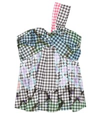 Peter Pilotto Gingham Cotton Top Multicoloured