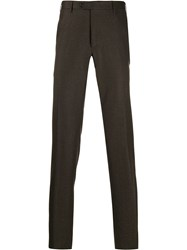 Corneliani Straight Leg Tailored Trousers Brown
