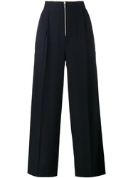Celine Wide Leg Trousers Blue
