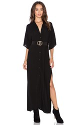 Stillwater The High Slit Shirt Dress Black