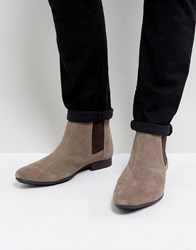 Frank Wright Chelsea Boots Beige Suede Beige