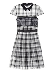 Self Portrait Checked Organza Shirtdress