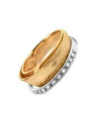 Torrini Tama Diamond Channel 18K Yellow Gold Band Ring