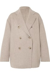 Acne Studios Odine Double Breasted Wool And Cashmere Blend Coat Beige