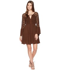 Rock And Roll Cowgirl Bell Sleeve Dress D4 7256 Chocolate Brown