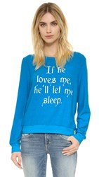Wildfox Couture If He Loves Me Baggy Beach Jumper Beach Cooler
