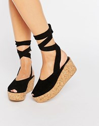 Warehouse Wrap Around Flatforms Black