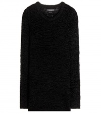 Isabel Marant Breezy Crochet Knit Sweater Black