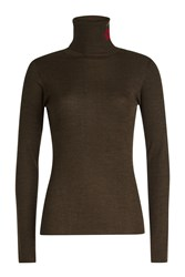 Lala Berlin Becky Pullover With Wool Green