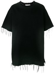 Marques Almeida Marques'almeida Raw Edge Denim T Shirt Black
