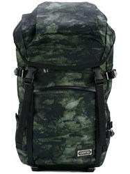 Master Piece Oversized Backpack Men Leather Nylon Polyester One Size Green