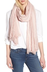 Treasure And Bond Solid Ribbed Wrap Scarf Pink Silver