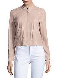 Rebecca Taylor Long Sleeve Perforated Leather Jacket